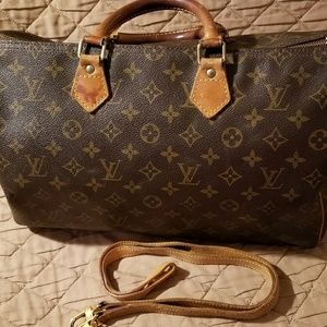 Authentic Louis Vuitton speedy 35 with shoulder  s